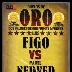 Cine: DVD, DUELOS DE ORO, DOS BALONES DE ORO FRENTE A FRENTE, LUIS FIGO - PAVEL NEDVED.. Lote 130202371