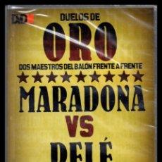 Cine: DVD, DUELOS DE ORO, DOS MAESTROS DEL BALON FRENTE A FRENTE, MARADONA - PELE.. Lote 130206147
