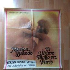 Cine: POSTER DE LA PELICULA --EL ULTIMO TANGO EN PARIS (VERSION ORIGINAL). Lote 130255594