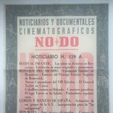 Cine: CARTEL NOTICIARIOS Y DOCUMENTALES CINEMATOGRÁFICOS NODO - NORICIARIO N° 529A. Lote 130284212