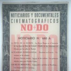 Cine: CARTEL NOTICIARIOS Y DOCUMENTALES CINEMATOGRÁFICOS NODO - NORICIARIO N° 680A. Lote 130284264