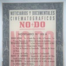 Cine: CARTEL NOTICIARIOS Y DOCUMENTALES CINEMATOGRÁFICOS NODO - NORICIARIO N° 520A. Lote 130284306