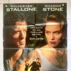 Cine: EL ESPECIALISTA - POSTER CARTEL ORIGINAL - STALLONE SHARON STONE LUIS LLOSA ERIC ROBERTS ROD STEIGER. Lote 130335662
