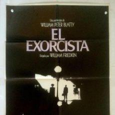 Cinema: EL EXORCISTA - POSTER CARTEL ORIGINAL - WILLIAM FRIEDKIN THE EXORCIST LINDA BLAIR MAX VON SYDOW. Lote 130395430