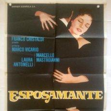 Cine: ESPOSAMANTE - POSTER CARTEL ORIGINAL - LAURA ANTONELLI MARCELLO MASTROIANNI MOGLIAMANTE. Lote 130400066