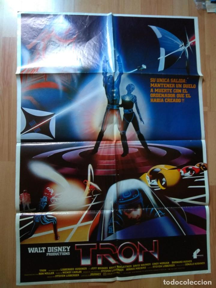 POSTER DE LA PELICULA --TRON (Cine - Posters y Carteles - Aventura)