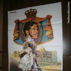Cine: CARTEL DE CINE ORIGINAL DONDE VAS ALFONSO XII PAQUITA RICO,VICENTE PARRA MD 100 X 70 CM. Lote 130975656