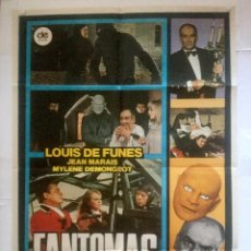 Cine: FANTOMAS CONTRA SCOTLAND YARD - POSTER CARTEL ORIGINAL - LOUIS DE FUNES JEAN MARAIS MYLENE DEMONGEOT. Lote 131087136