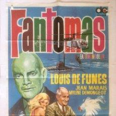 Cine: FANTOMAS - POSTER CARTEL ORIGINAL - LOUIS DE FUNES JEAN MARAIS MYLENE DEMONGEOT. Lote 131087276