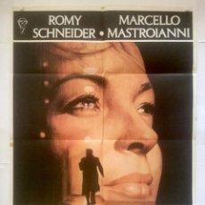 Cine: FANTASMA DE AMOR - POSTER CARTEL ORIGINAL - ROMY SCHNEIDER MARCELLO MASTROIANNI DINO RISI. Lote 131088516