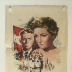 Cine: LA FAMILIA TRAPP - POSTER CARTEL ORIGINAL - RUTH LEUWERIK HANS HOLT MARIA HOLST NAZISMO MAC. Lote 131089288