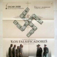 Cine: LOS FALSIFICADORES - POSTER CARTEL ORIGINAL - DIE FÄLSCHER (THE COUNTERFEITERS) NAZISMO. Lote 131089680