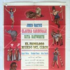 Cine: EL FABULOSO MUNDO DEL CIRCO - POSTER CARTEL ORIGINAL - CLAUDIA CARDINALE JOHN WAYNE RITA HAYWORTH. Lote 131089916