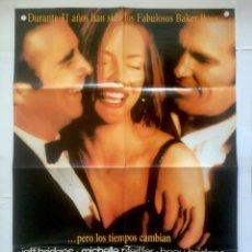Cine: LOS FABULOSOS BAKER BOYS - POSTER CARTEL ORIGINAL - MICHELLE PFEIFFER JEFF BEAU BRIDGES STEVE KLOVES. Lote 131090168