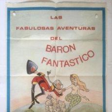 Cine: LAS FABULOSAS AVENTURAS DE BARON FANTASTICO - POSTER CARTEL ORIGINAL - MUNCHAUSEN JEAN IMAGE. Lote 131090452
