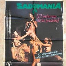 Cinéma: CARTEL CINE ORIG SADOMANIA EL INFIERNO DE LA PASION (1981) 70X100 / AJITA WILSON, JESÚS FRANCO. Lote 131281647