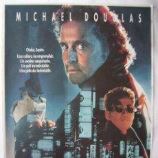 Cine: BLACK RAIN, CON MICHAEL DOUGLAS. POSTER 70 X 100 CMS. 1989.. Lote 131462598