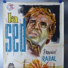 Cine: LA SED.- FRANCISCO RABAL, OLGA ZUBZRRY, CARLOS ESTRADA - LITOGRAFIA - AÑO 1961. Lote 131853597