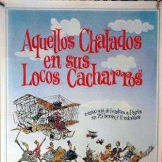 Cine: AQUELLOS CHALADOS EN SUS LOCOS CACHARROS. SARAH MILES-ALBERTO SORDI. CARTEL ORIGINAL 70X100. Lote 132025750