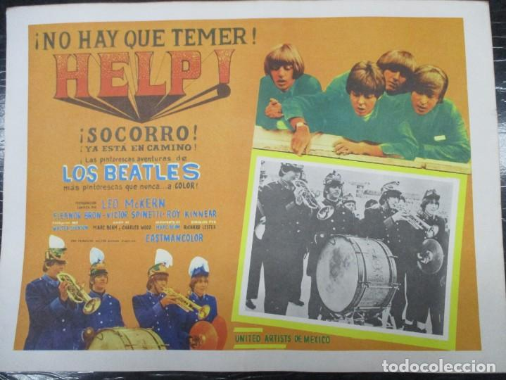 Cine: THE BEATLES - HELP - EXCEPCIONAL CARTEL - ORIGINAL DE EPOCA - MEDIDAS 30 X 42 CM - Foto 1 - 132207318
