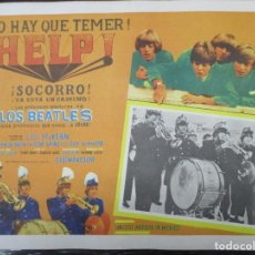 Cine: THE BEATLES - HELP - EXCEPCIONAL CARTEL - ORIGINAL DE EPOCA - MEDIDAS 30 X 42 CM. Lote 132207318