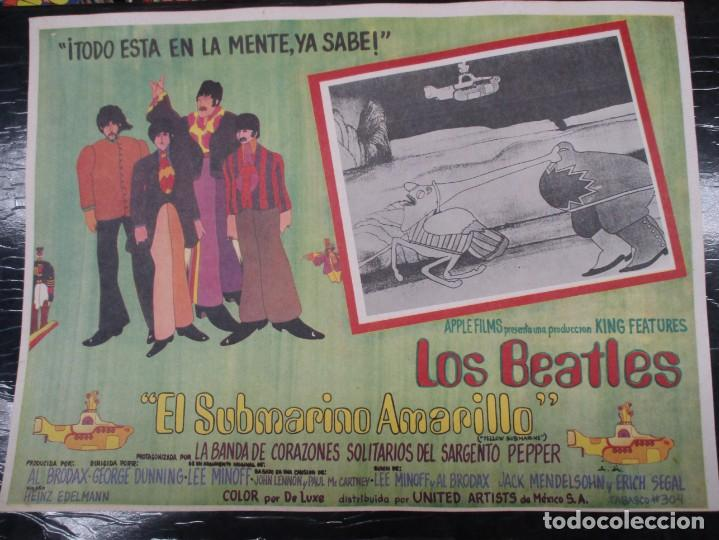 THE BEATLES - YELLOW SUBMARINE - EXCEPCIONAL CARTEL - ORIGINAL DE EPOCA - MEDIDAS 30 X 42 CM (Cine - Posters y Carteles - Musicales)