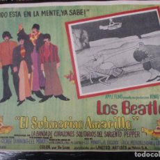 Cine: THE BEATLES - YELLOW SUBMARINE - EXCEPCIONAL CARTEL - ORIGINAL DE EPOCA - MEDIDAS 30 X 42 CM. Lote 132207438