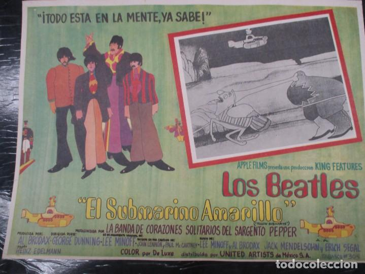 Cine: THE BEATLES - YELLOW SUBMARINE - EXCEPCIONAL CARTEL - ORIGINAL DE EPOCA - MEDIDAS 30 X 42 CM - Foto 2 - 132207438