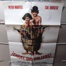 Cine: CARAY QUE PALIZAS SPAGHETTI POSTER ORIGINAL 70X100 YY (1894). Lote 132285959