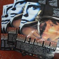 Cine: DIARIO DE UN AMOR VIOLADO. LOTE 10 CARTELES ORIGINALES DE CINE.. Lote 132383034