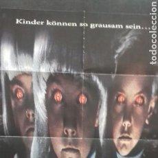 Cine: CARTEL POSTER - EL PUEBLO DE LOS MALDITOS - JOHN CARPENTER - 84 X 59. Lote 132400718