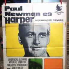 Cine: HARPER INVESTIGADOR PRIVADO PAUL NEWMAN POSTER ORIGINAL 70X100 ESTRENO AÑO 1966.. Lote 132409914
