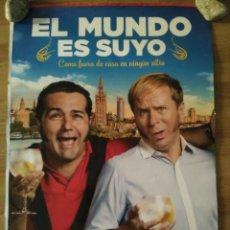 Cine: EL MUNDO ES SUYO - APROX 70X100 CARTEL ORIGINAL CINE (L60). Lote 132523210