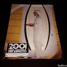 Cine: CARTEL DE CINE 33,5 X 23,5 CMS. 2001 UNA ODISEA DEL ESPACIO, STANLEY KUBRICK. ORIGINAL 1968.. Lote 142382534