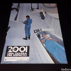 Cine: CARTEL DE CINE 33,5 X 23,5 CMS. 2001 UNA ODISEA DEL ESPACIO, STANLEY KUBRICK. ORIGINAL 1968.. Lote 132614326