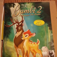 Cine: BAMBI 2 - POSTER PROMOCIONAL EL PRINCIPE DEL BOSQUE DISNEY 70 X 100 CM. Lote 132643874