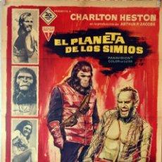Cine: EL PLANETA DE LOS SIMIOS. CHARLTON HESTON CARTEL ORIGINAL 1968. 70X100. Lote 132745942