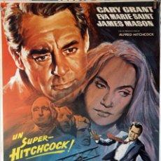 Cine: CON LA MUERTE EN LOS TALONES. ALFRED HITCHCOCK-CARY GRANT-EVA MARIE SAINT. CARTEL ORIGINAL 1980. 7. Lote 132747062