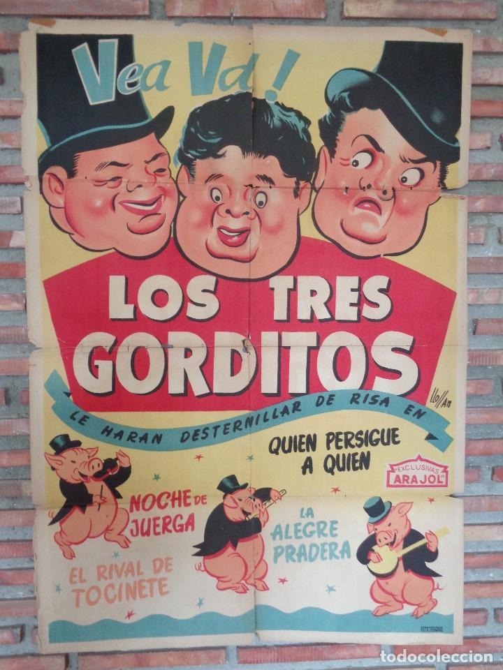 CARTEL ARAJOL. LOS TRES CERDITOS (Cine - Posters y Carteles - Infantil)
