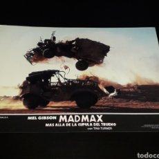 Cine: CARTEL DE CINE 33,5 X 23,5 CMS. MAD MAX CÚPULA DEL TRUENO, MEL GIBSON / TINA TURNER. ORIGINAL 1985.. Lote 132774522