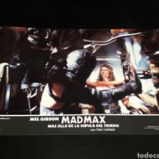 Cine: CARTEL DE CINE 33,5 X 23,5 CMS. MAD MAX CÚPULA DEL TRUENO, MEL GIBSON / TINA TURNER. ORIGINAL 1985.. Lote 132774626