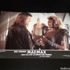 Cine: CARTEL DE CINE 33,5 X 23,5 CMS. MAD MAX CÚPULA DEL TRUENO, MEL GIBSON / TINA TURNER. ORIGINAL 1985.. Lote 132774650