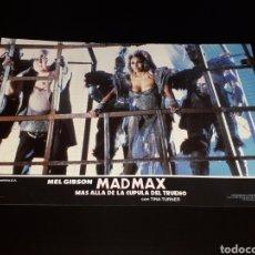 Cine: CARTEL DE CINE 33,5 X 23,5 CMS. MAD MAX CÚPULA DEL TRUENO, MEL GIBSON / TINA TURNER. ORIGINAL 1985.. Lote 132774674
