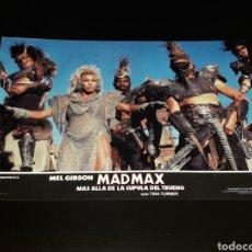 Cine: CARTEL DE CINE 33,5 X 23,5 CMS. MAD MAX CÚPULA DEL TRUENO, MEL GIBSON / TINA TURNER. ORIGINAL 1985.. Lote 132774706