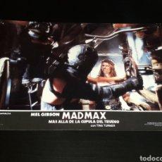 Cine: CARTEL DE CINE 33,5 X 23,5 CMS. MAD MAX CÚPULA DEL TRUENO, MEL GIBSON / TINA TURNER. ORIGINAL 1985.. Lote 132774734