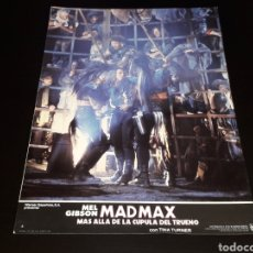 Cine: CARTEL DE CINE 33,5 X 23,5 CMS. MAD MAX CÚPULA DEL TRUENO, MEL GIBSON / TINA TURNER. ORIGINAL 1985.. Lote 132774862