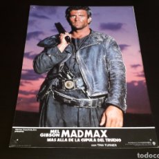 Cine: CARTEL DE CINE 33,5 X 23,5 CMS. MAD MAX CÚPULA DEL TRUENO, MEL GIBSON / TINA TURNER. ORIGINAL 1985.. Lote 132774882