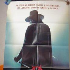 Cine: POSTER ORIGINAL V DE VENGANZA VENDETTA HUGO WEAVING NATALIE PORTMAN RUPERT GRAVES WARNER DOBLE LADO. Lote 132909410