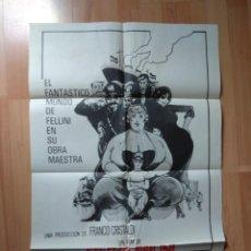 Cine: E-POSTER MAS LA GUIA DE LA PELICULA -AMARCORD. Lote 132933810