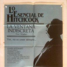 Cine: LA VENTANA INDISCRETA - POSTER CARTEL ORIGINAL - HITCHCOCK GRACE KELLY JAMES STEWART. Lote 133293842